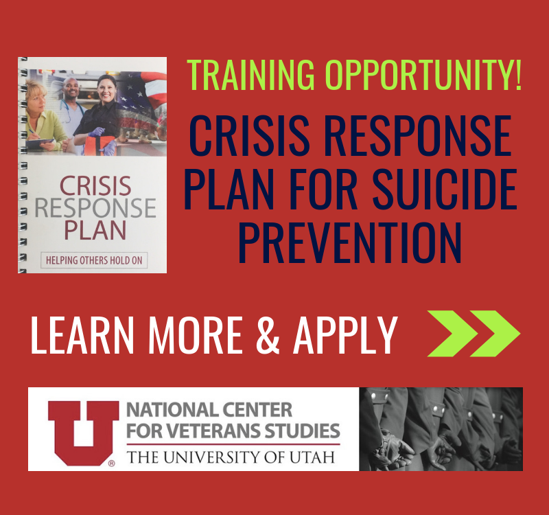 Crisis Response Plan, National Center for Veterans Studies Training Institute